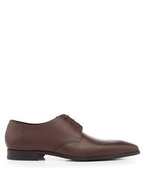 Feroke dark brown lace-up Derbys