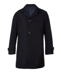Donis blue button-up coat