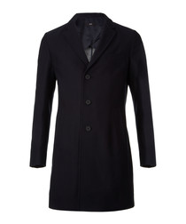 Shawn dark blue button-up coat