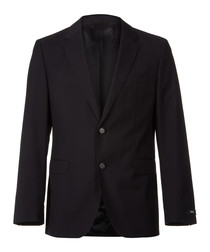 The Rider black virgin wool blazer