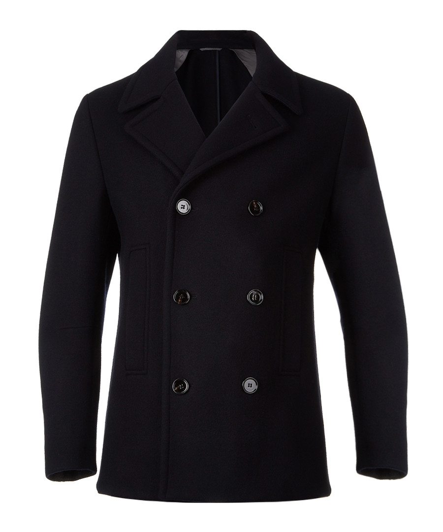 Dark blue wool blend button jacket Sale - Boss By Hugo Boss