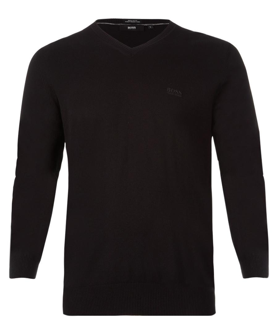 Black pure cotton logo jumper Sale - Boss By Hugo Boss