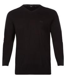 Black pure cotton logo jumper
