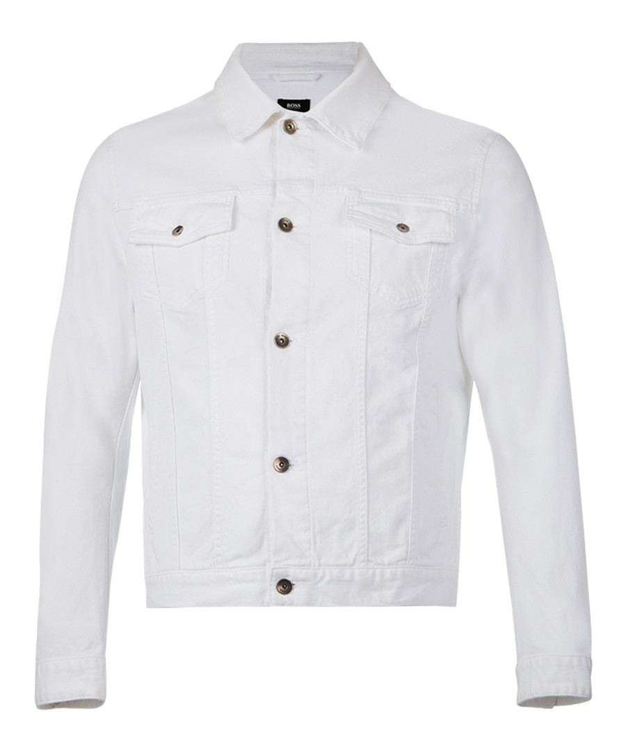 White cotton blend button up jacket Sale - Boss By Hugo Boss