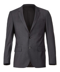 Dark grey wool blend blazer