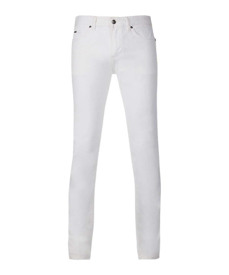 White cotton blend skinny trousers Sale - Boss By Hugo Boss