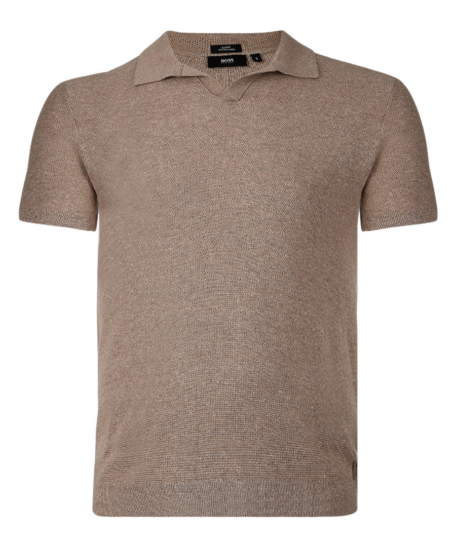Beige cotton blend polo shirt Sale - Boss By Hugo Boss
