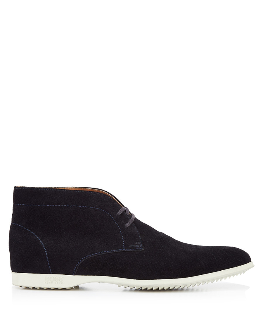 Dark blue lace up desert boots Sale - Boss By Hugo Boss