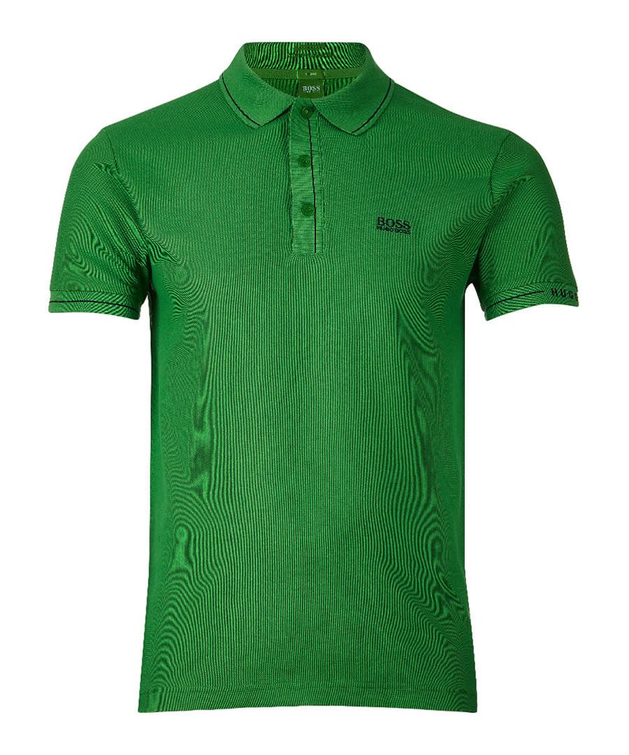 Green cotton blend polo shirt Sale - Boss By Hugo Boss