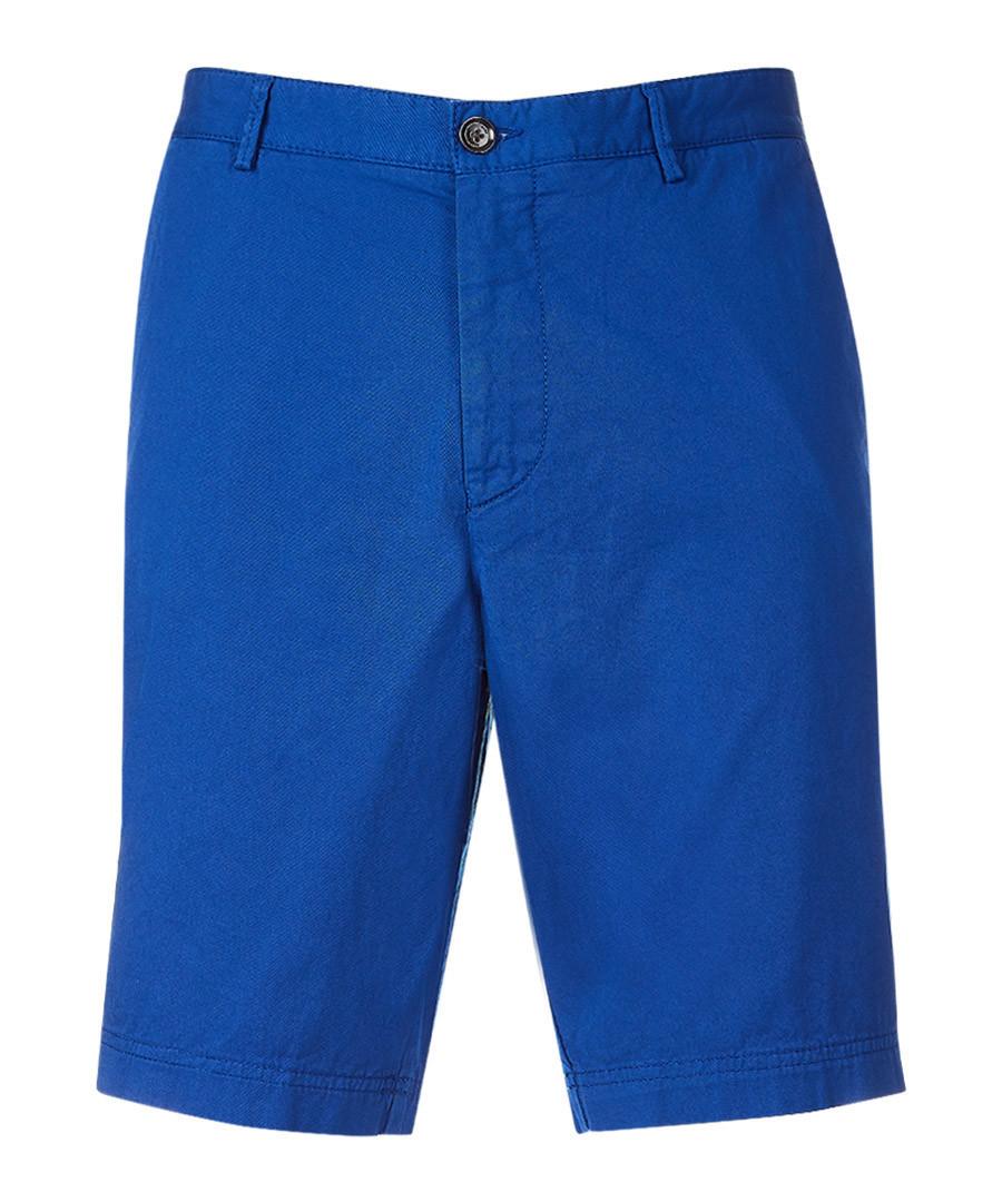 Blue cotton blend shorts Sale - Boss By Hugo Boss