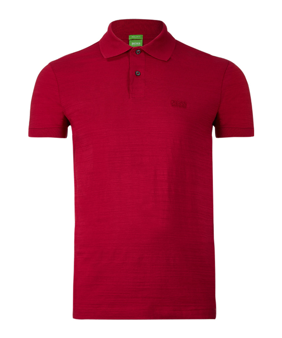 Red cotton blend polo shirt Sale - Boss By Hugo Boss