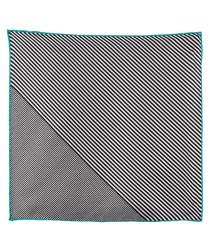 Black & white pure silk handkerchief