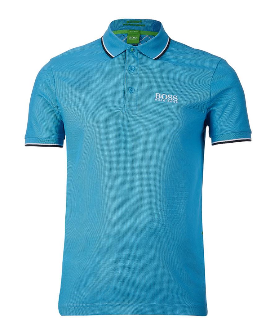 Blue cotton blend polo shirt Sale - Boss By Hugo Boss
