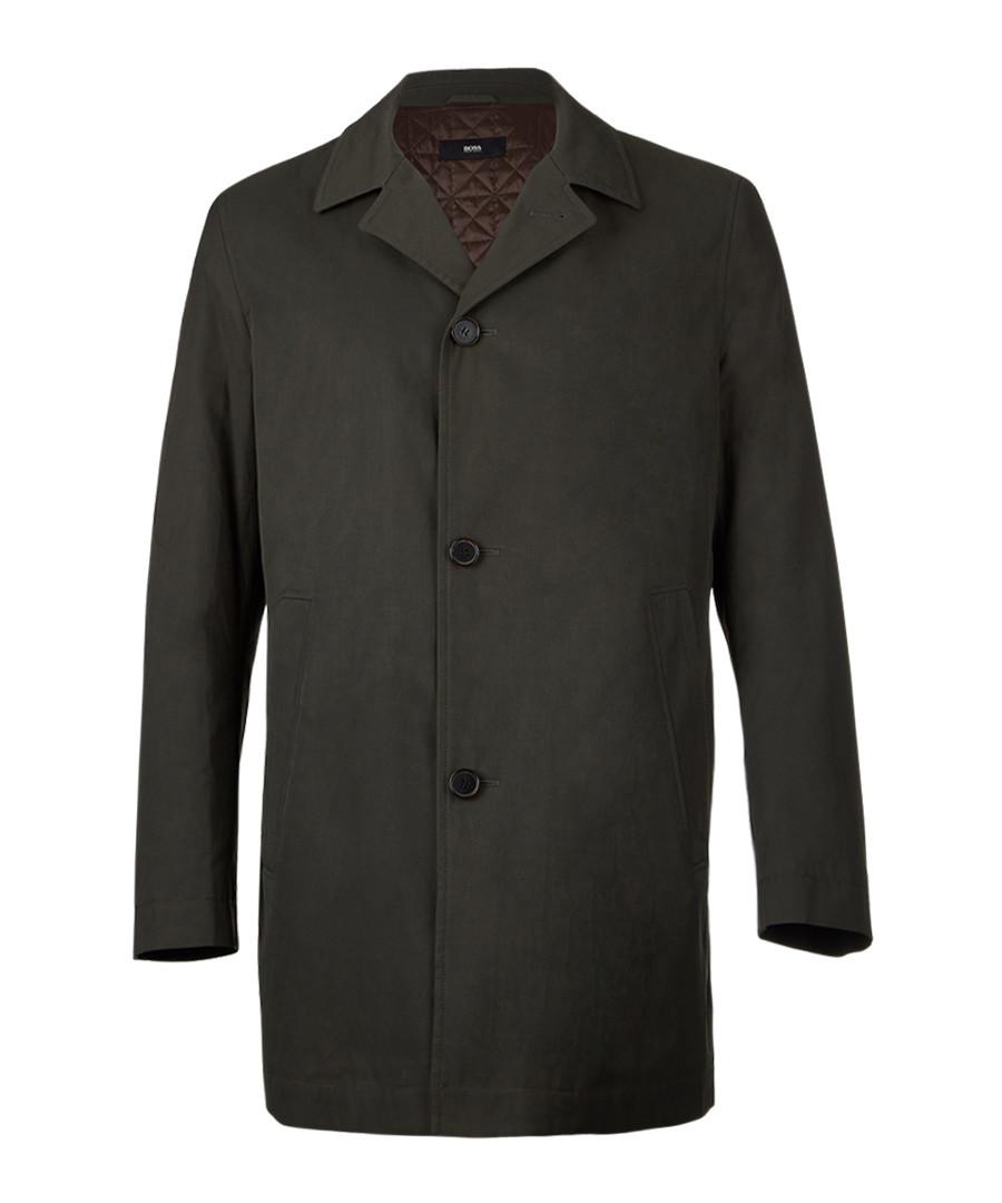 Dark beige cotton blend 3 button coat Sale - Boss By Hugo Boss