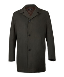 Dark beige cotton blend 3 button coat