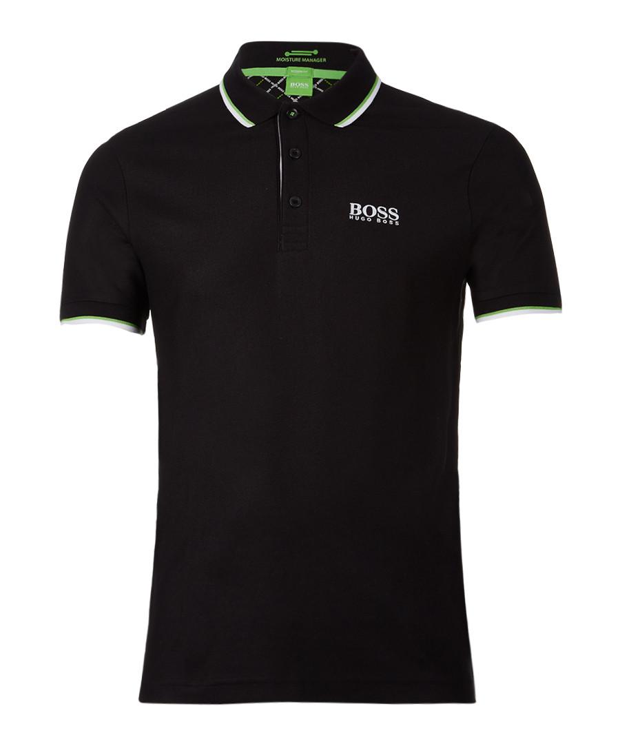 Black cotton blend polo shirt Sale - Boss By Hugo Boss