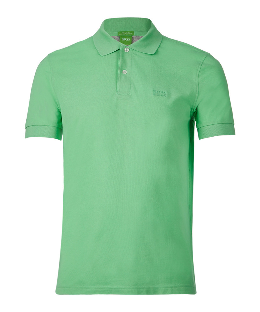 Green pure cotton polo shirt Sale - Boss By Hugo Boss