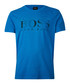 Blue pure cotton logo print T-shirt Sale - Boss By Hugo Boss Sale