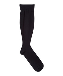 Black cotton blend socks