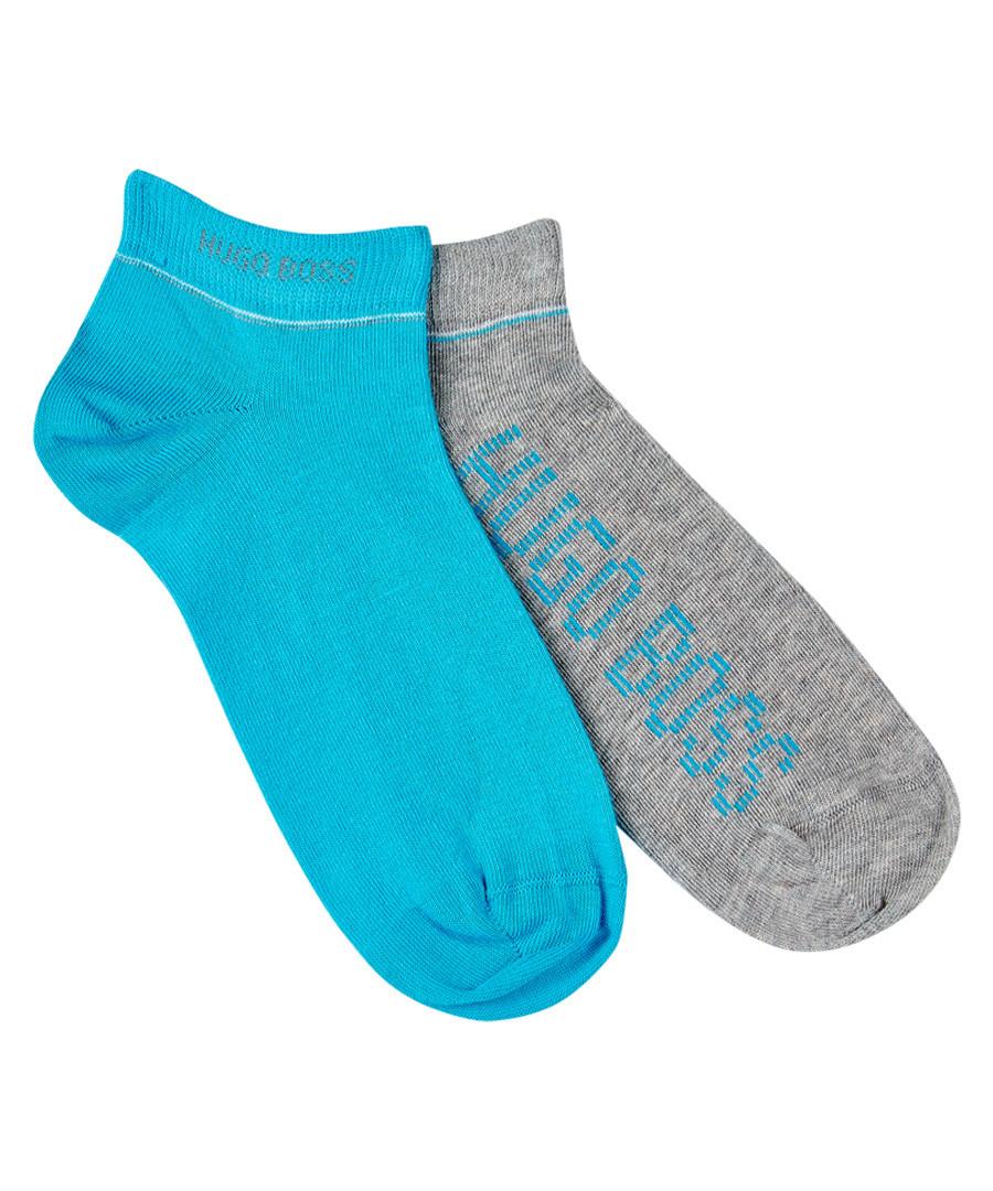 2pc blue & grey cotton blend sock set Sale - Boss By Hugo Boss