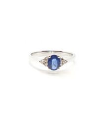 0.75ct sapphire & diamond white gold ring