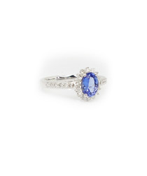 1.50ct tanzanite & diamond cluster ring