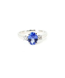 1.00ct tanzanite & diamond gold ring