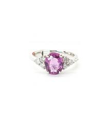 1.75ct pink sapphire & diamond ring