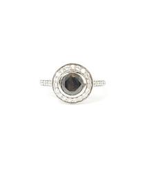 1.50ct black diamond engagement ring