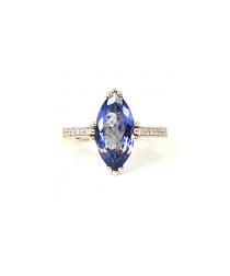 2.50ct tanzanite & diamond gold ring