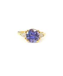 2.80ct tanzanite & diamond gold ring
