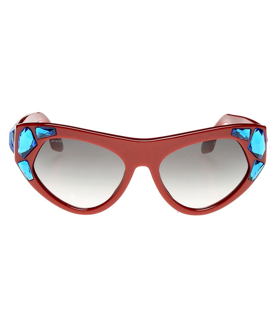 Red & blue crystal goggle sunglasses Sale - prada