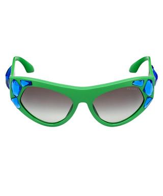 3ea867304800 Green   blue crystal goggle sunglasses Sale - Prada Sale