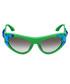 Green & blue crystal goggle sunglasses Sale - Prada Sale