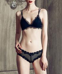 2pc black lingerie set