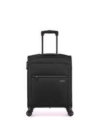 Black spinner cabin suitcase 55cm