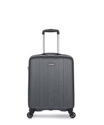Grey medium spinner suitcase 55cm