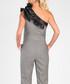 Grey & black one shoulder jumpsuit Sale - marmuri Sale