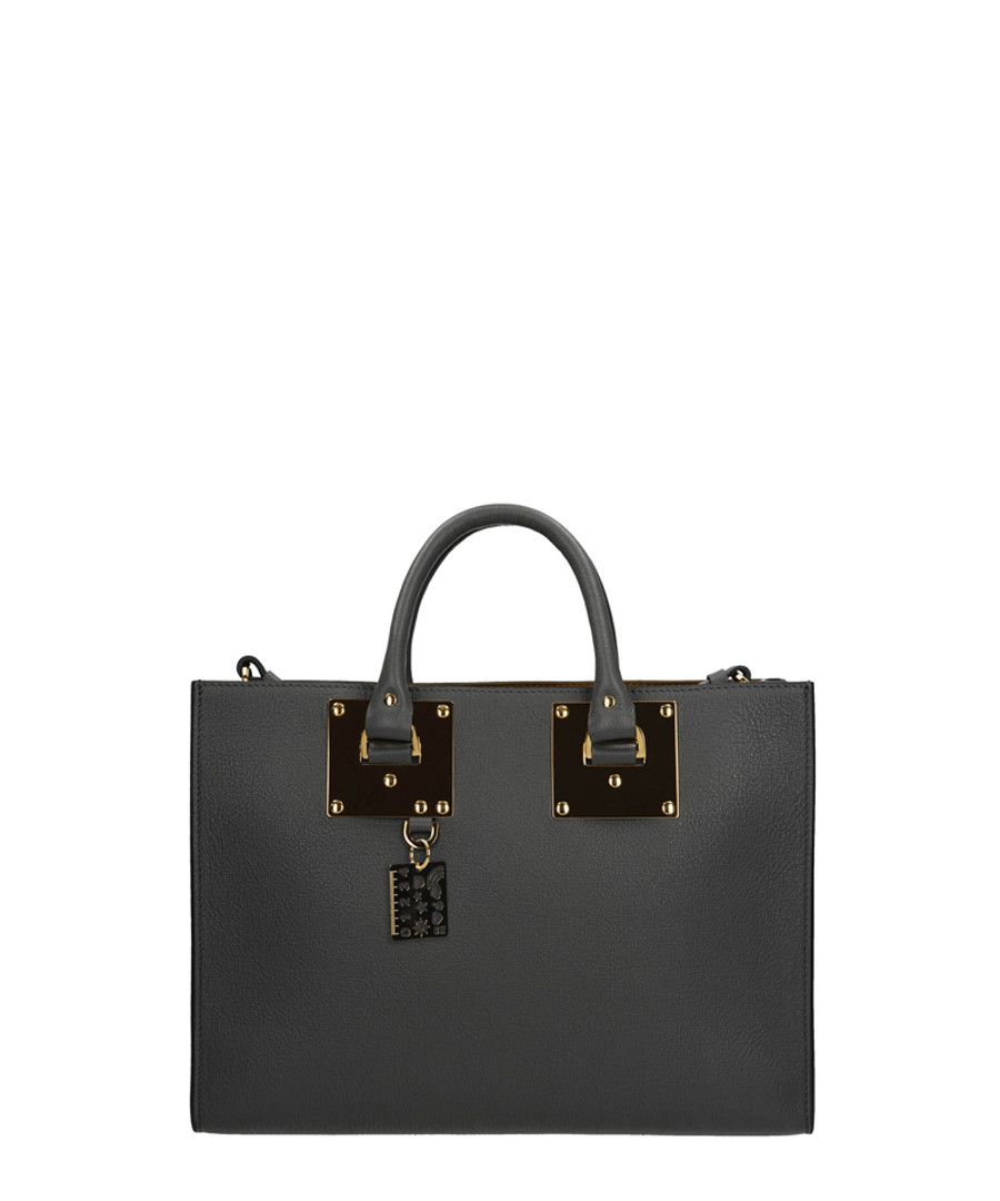 Albion East West charcoal leather tote Sale - SOPHIE HULME