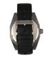 M46 black leather & gunmetal steel watch Sale - morphic Sale