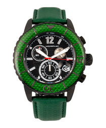 M51 black & green leather watch