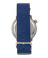 M58 blue leather & stainless steel watch Sale - morphic Sale