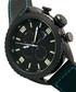 M64 black steel & leather watch Sale - morphic Sale