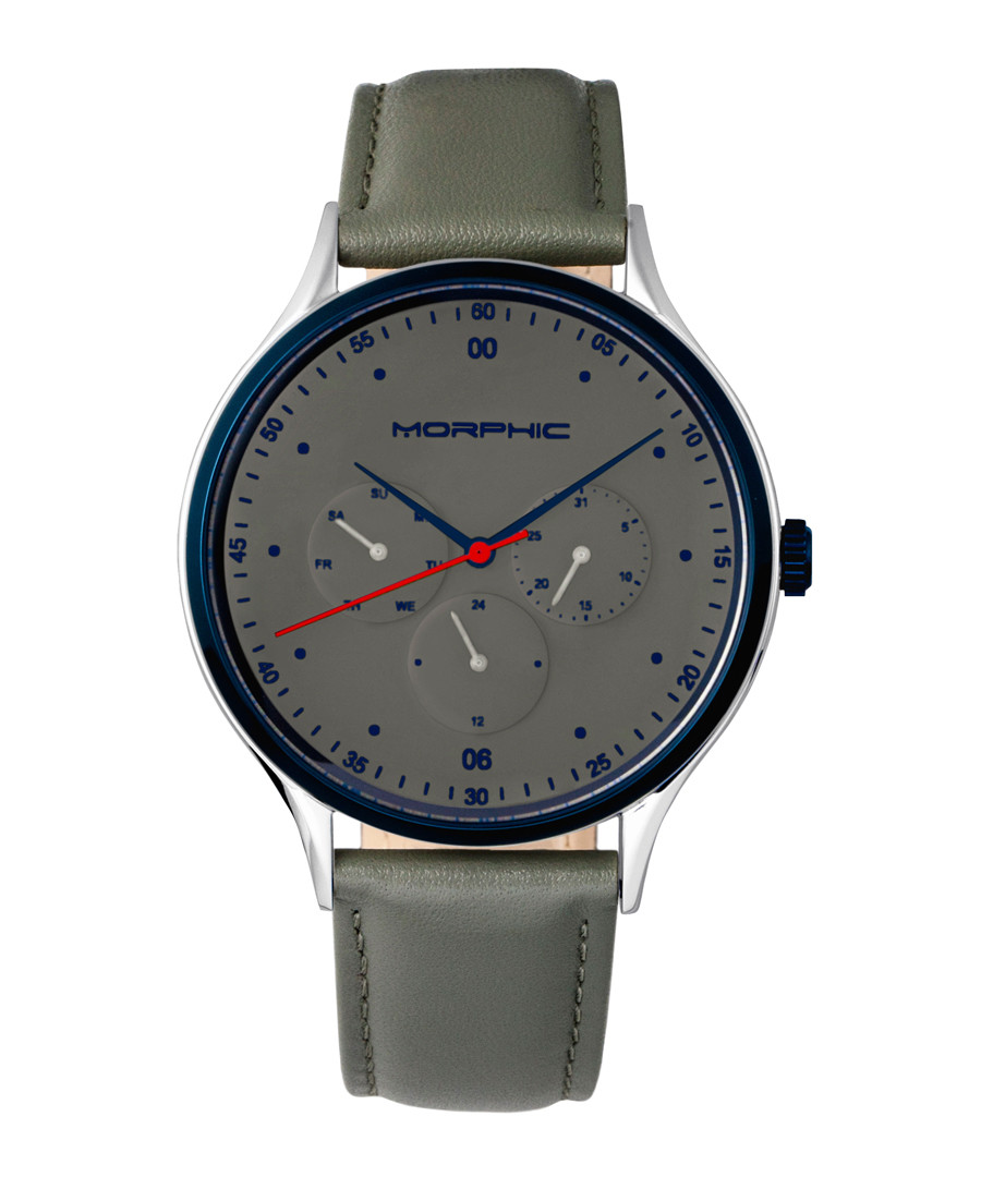 M65 stainless steel & grey leather watch Sale - morphic