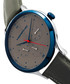 M65 stainless steel & grey leather watch Sale - morphic Sale