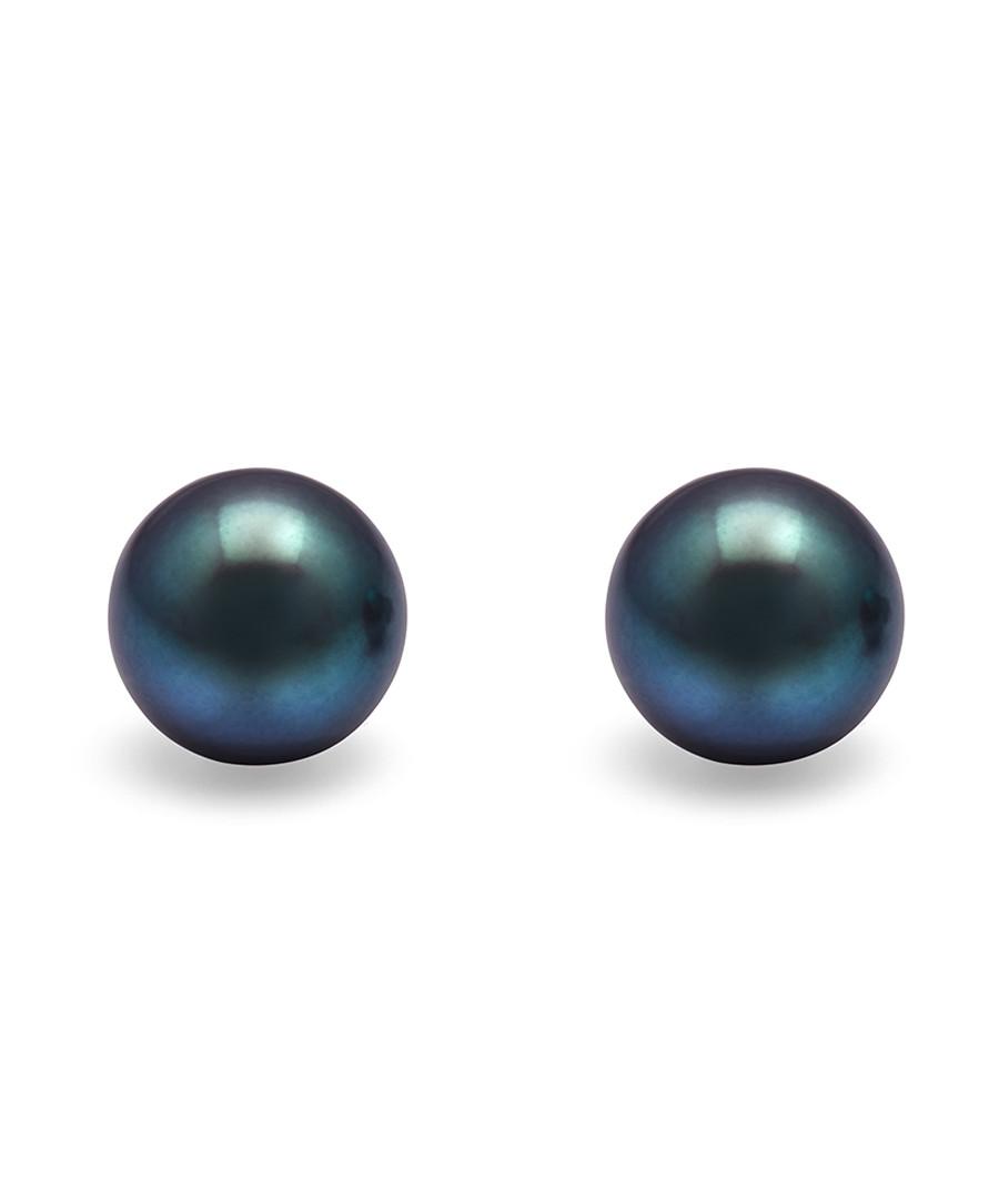 1cm peacock pearl & sterling studs Sale - Windsor Pearls
