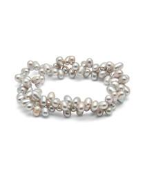 0.6cm grey rice pearl bracelet