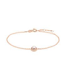 0.725cm white pearl & rose gold bracelet