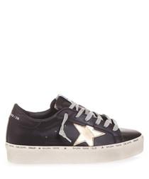 Hi Start black & gold leather sneakers