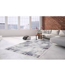 Borneo 100 silver & violet rug 200x290cm